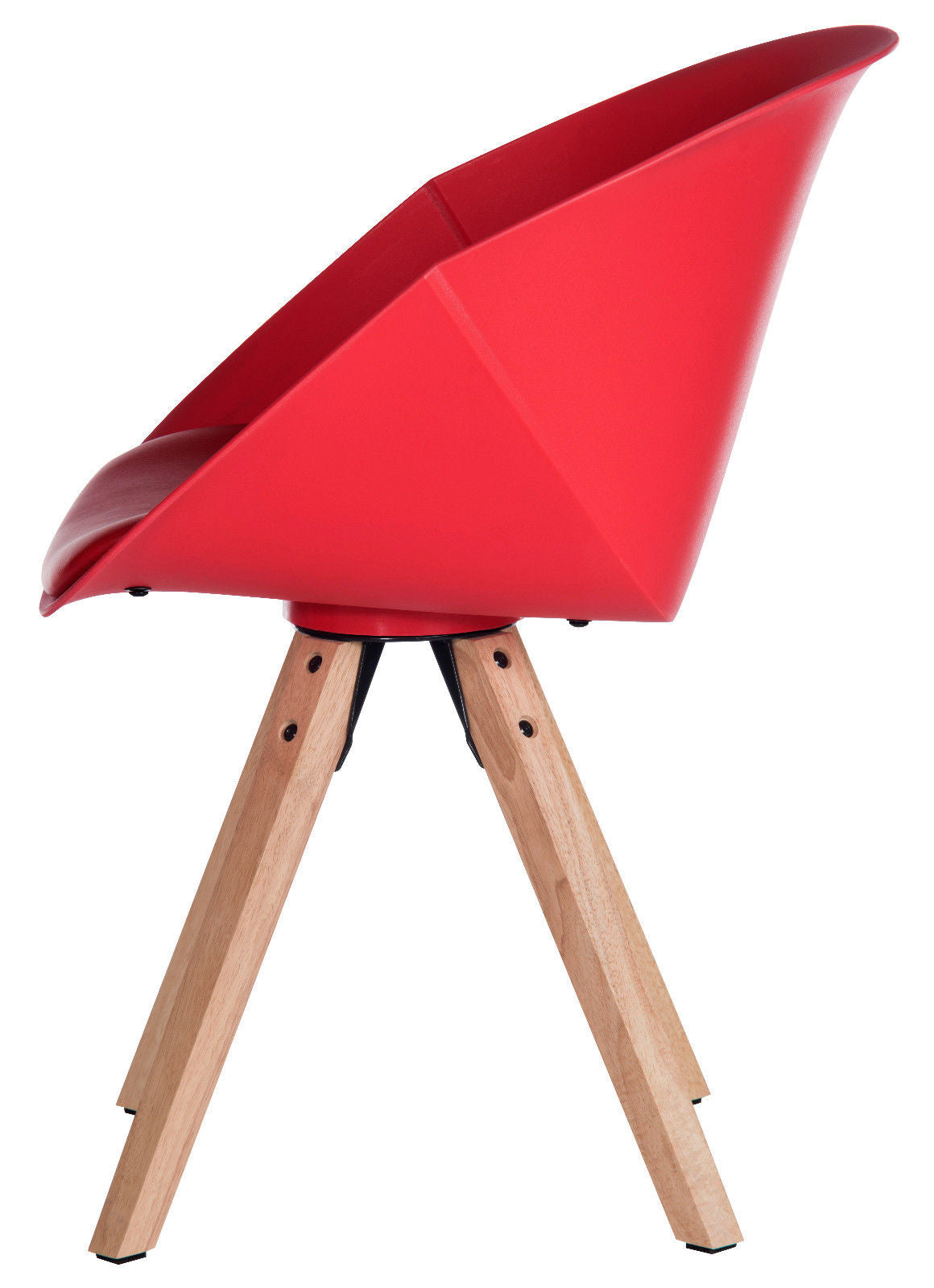 ... 2 Pyramid Padded Tub Chair | Red Reception Chairs | 1950u0027s Style ...