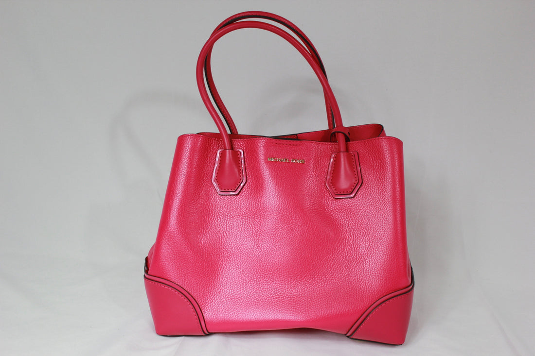 98ccd913ced2 Michael Kors Mercer Medium Center Zip Tote Ultra Pink