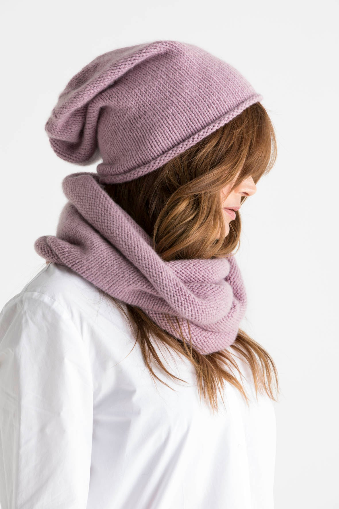 Cashmere Slouchy Hate and Cowl set