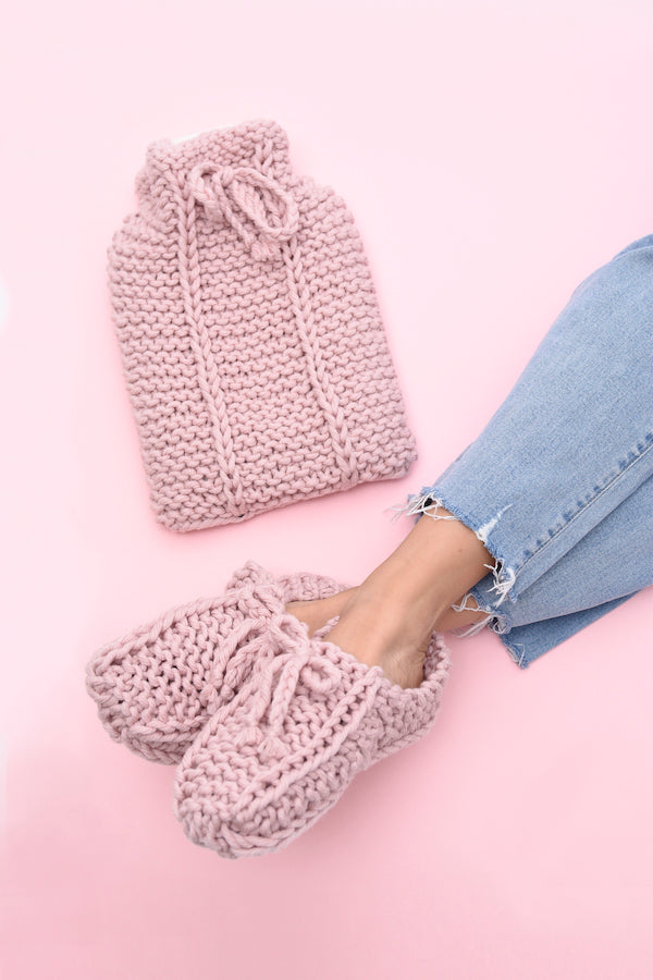 Hot Water Bottle Cover and Slipper Set in Meadow