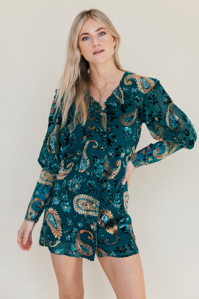 Lenni The Label | Firefly Burnout Sleeved Dress
