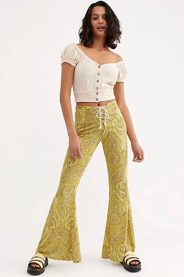 Jimi Pants Brocade Gold Byron bay