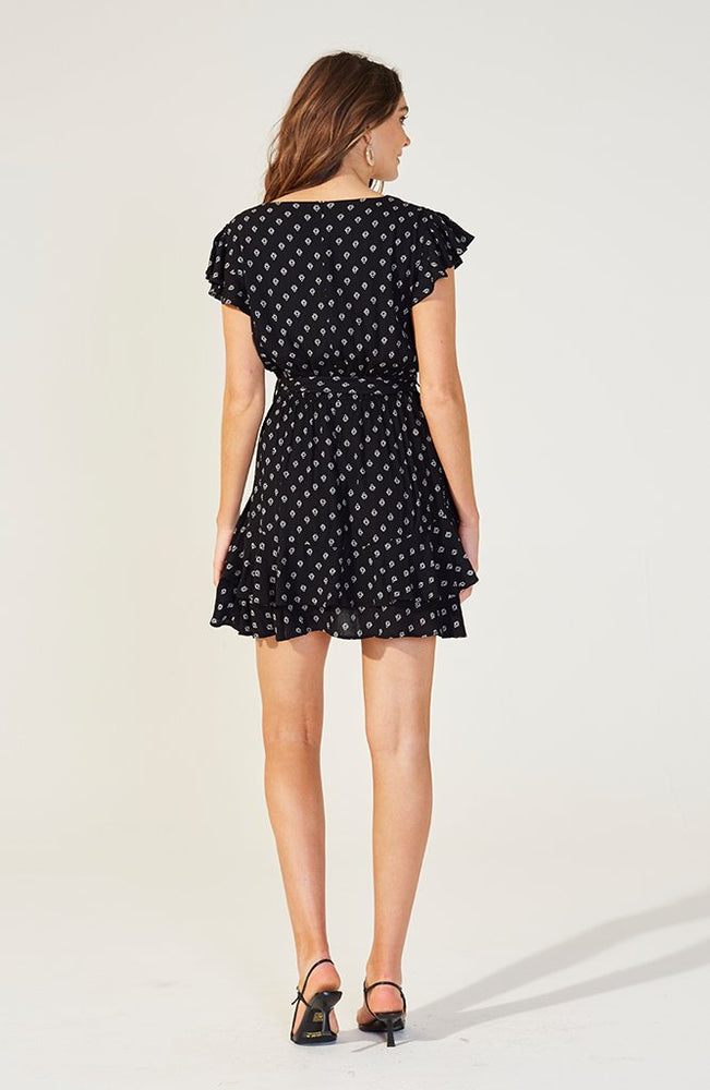 MINKPINK | Lotus Mini Dress Black/White