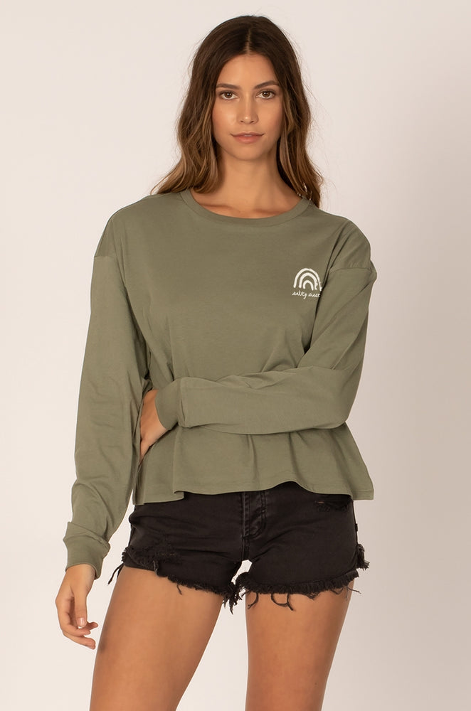womens long sleeve tee ballina
