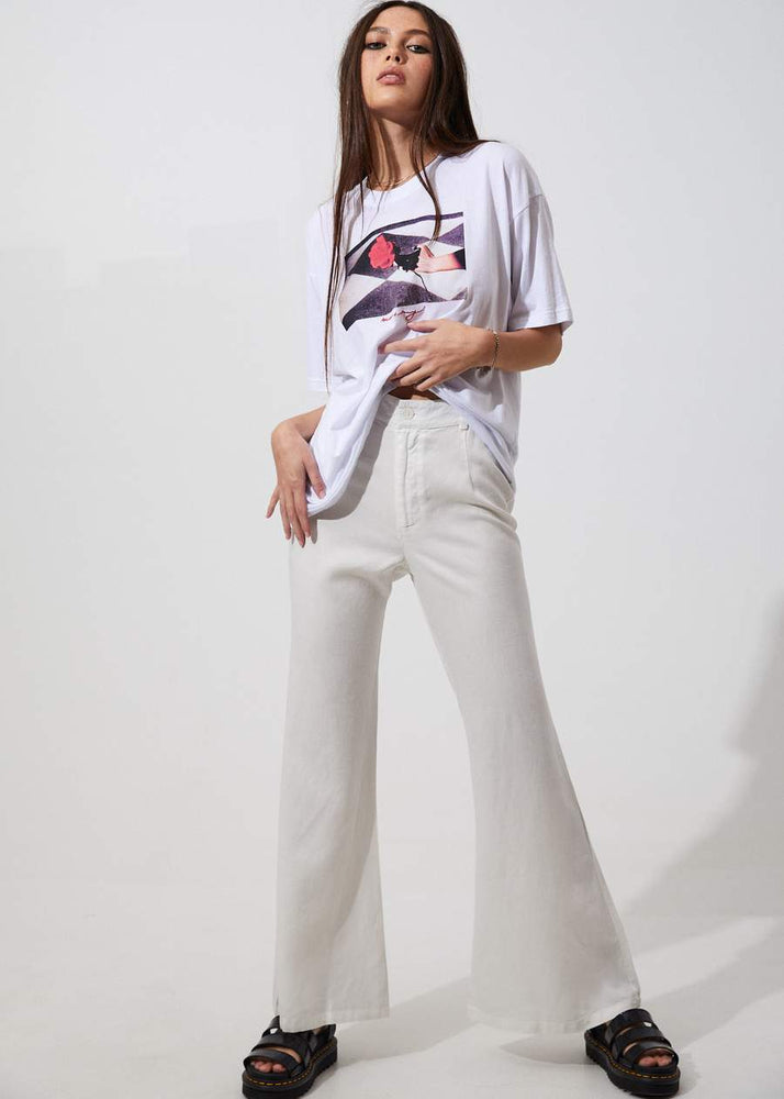 Afends | Birkin Hemp Flares White