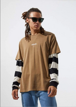 Distorted Afends mens tee online Beach Town