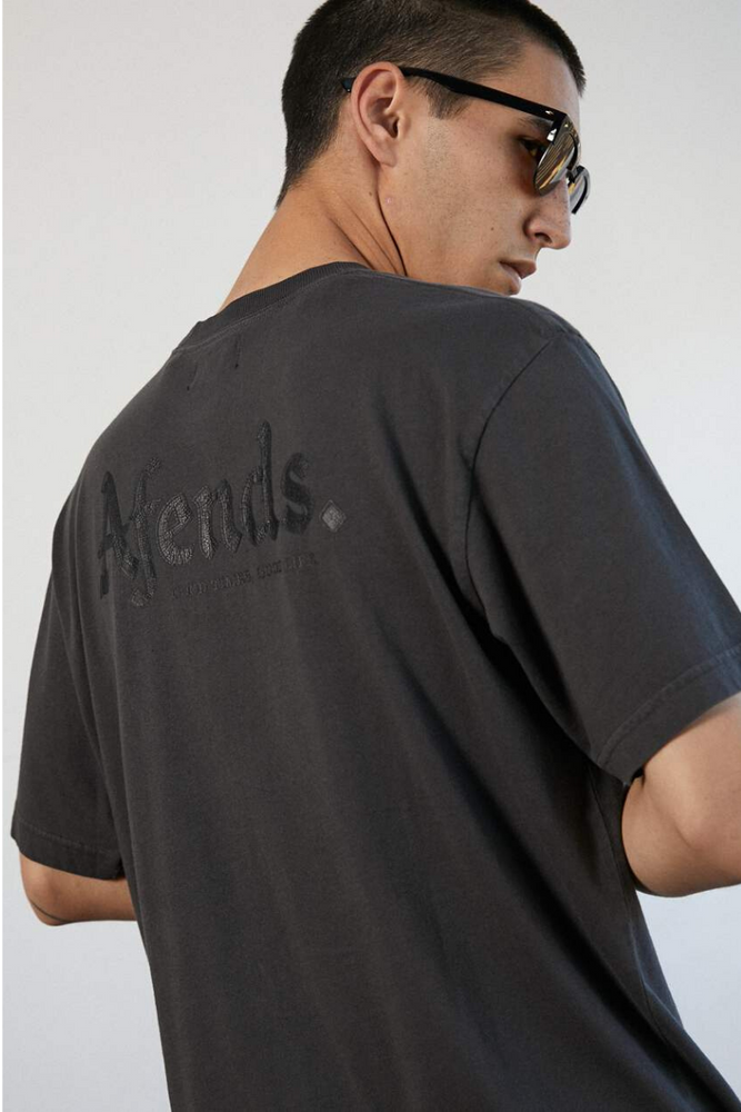 Afends | Rennie Retro Fit Tee Vintage Black