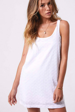Afends | Shannen Anglaise Mini Dress White