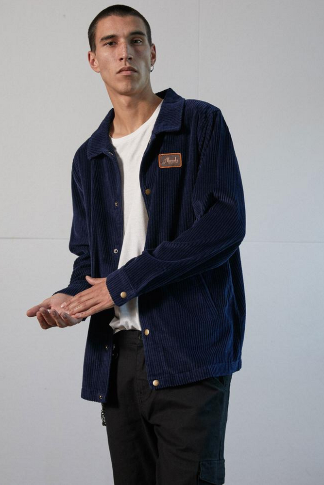 Afends | Enjoy Cord Jacket Deep Indigo