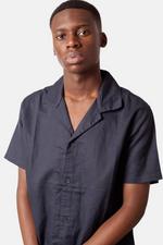 Rhythm | Linen Cuban Shirt Navy