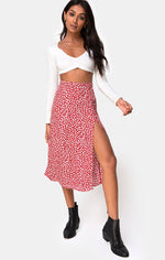 beach town motel rocks saika skirt ditsy rose midi lenth womens skirt ballina byron bay