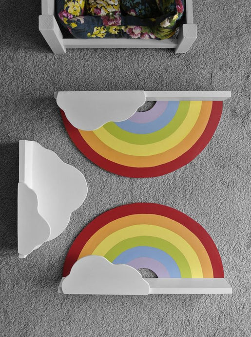Rainbow Shelf hand made for children's and babies' room - IshBuild | Design that lasts