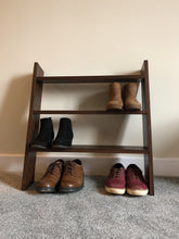 Rustic Brown Solid Wood ladder Shoe Shelf 70cm - IshBuild | Design that lasts