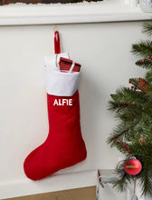 Personliased Red Christmas Stocking