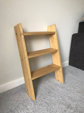 5 Shelf Solid wood shoe rack oak style storage ladder shelf shelves 110cm tall - IshBuild | Design that lasts