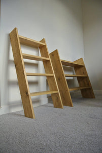 4 Shelf Solid wood shoe rack oak style storage ladder shelf shelves 90cm tall - IshBuild | Design that lasts