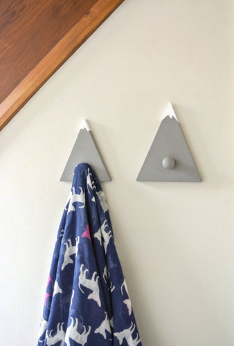 Grey and White Mountain Hook for clothes and coats available in hooks sets - IshBuild | Design that lasts
