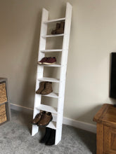 Foldable ladder shelf with 8 shelves