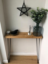 Hairpin leg console table for hallways landing living room wall mounted
