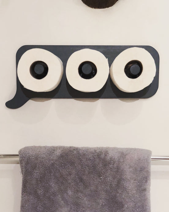 """Someone's Typing!"" Toilet roll holder"