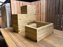 U Shaped Solid Wood Block Planter