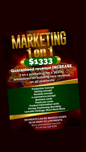 Business start up with intensive Marketing/Branding