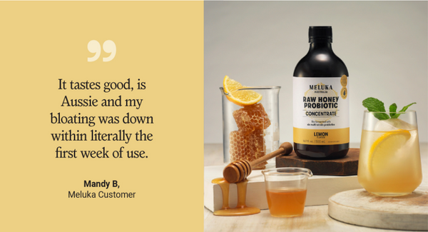 customer review on meluka australia raw honey probiotic concentrate
