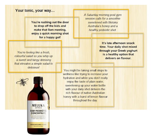 Meluka Australia's Probiotic Concentrate is a multi-purpose and versatile product.
