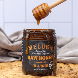 Load image into Gallery viewer, Tea Tree infused Raw Honey - TTF24