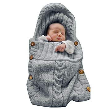 Newborn Baby Wrap Swaddle Blanket Knit Sleeping Bag Sleep - Sour Patchy