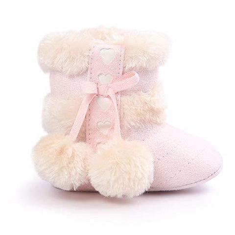 Baby Girl Plush Winter Snow Bowknot Boots - Sour Patchy