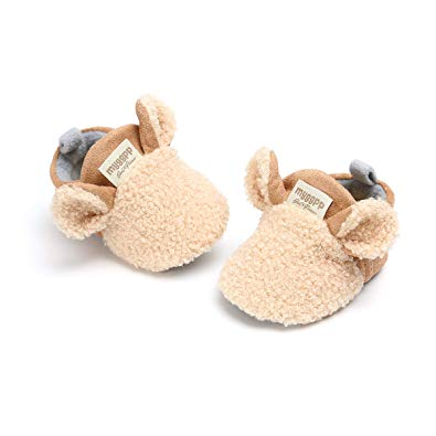 Save Beautiful Infant Unisex Baby Winter Warm Cotton Slippers - Sour Patchy