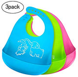 Baby Bibs for Boys Girls Waterproof Silicone Bib - Sour Patchy