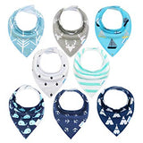 Baby bibs 8 Pack Soft and Absorbent for Boys & Girls - Sour Patchy
