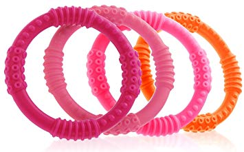 Silicone Sensory Teething Rings - Sour Patchy