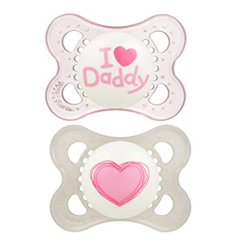 Baby Pacifier  'I Love Daddy' Design Collection, Girl, 4-Count - Sour Patchy