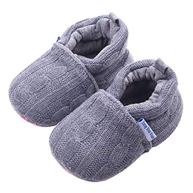 Baby Girls Loafers Knitted Cirb Shoes - Sour Patchy