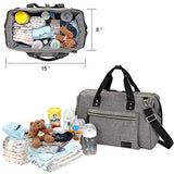 Diaper Bag, Large Diaper Tote Stylish for Mom and Dad - Sour Patchy
