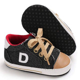 Newborn Infant First Walkers Canvas Denim Shoes - Sour Patchy