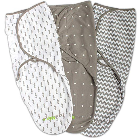 Swaddle Blanket, Adjustable Infant Baby Wrap, Soft Cotton in Ultra Grey - Sour Patchy