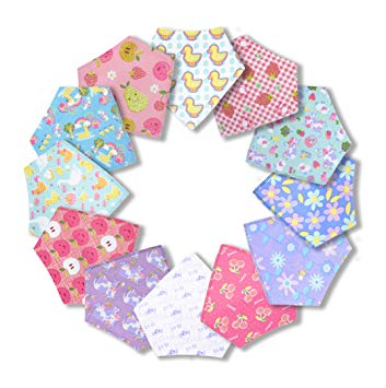 Hypoallergenic Bibs for Baby Girls, Infant and Toddler Shower Gift Set - Sour Patchy