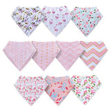 Baby Girl Bandana Drool Bibs-10-Pack - Sour Patchy