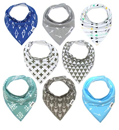 Baby Bandana Bib Set, 8-Pack - Sour Patchy