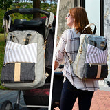 Baby Backpack, Huge Diaper Changing Pad & Stroller - Sour Patchy