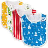 Baby Bib Large Toddler Burpy Absorbent Feeding Reflux Drool Teething Snap Button - Sour Patchy