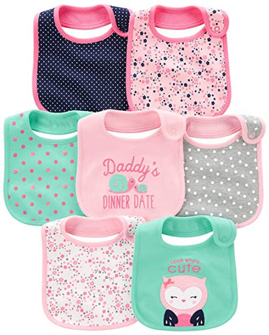 Simple Baby Girls' 7-Pack Bibs - Sour Patchy