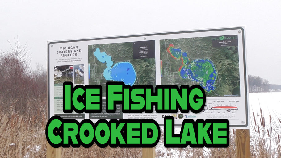 Ice Fishing Crooked Lake Near Lake City Michigan