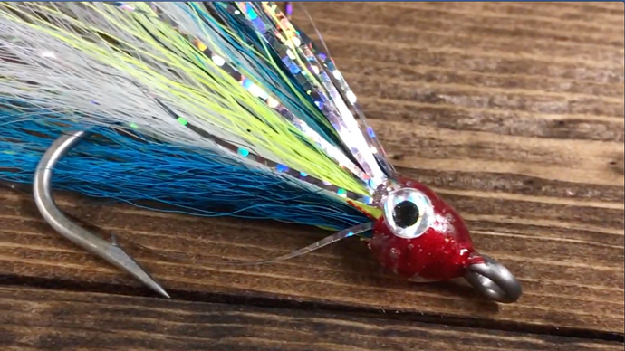 Splash Minnow Fly Tying Pattern on Saltwater Hook
