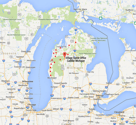 Village Tackle LLC covers the State of Michigan through the use of Live Bait and Tackle Vending machines.