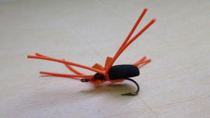 5 CT. ORANGE LEGS SPIDER SIZE 12 BLUEGILL PANFISH FLY FISHING FLIES BBDS02-12